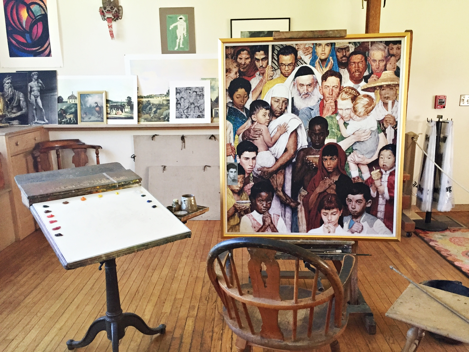 Norman Rockwell\'s Studio at the Norman Rockwell Museum in ...