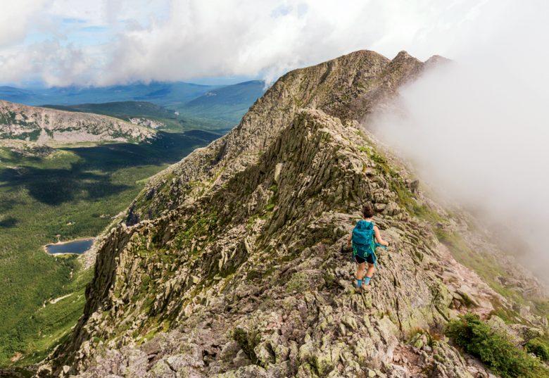 The Knife Edge Trail on Mount Katahdin.