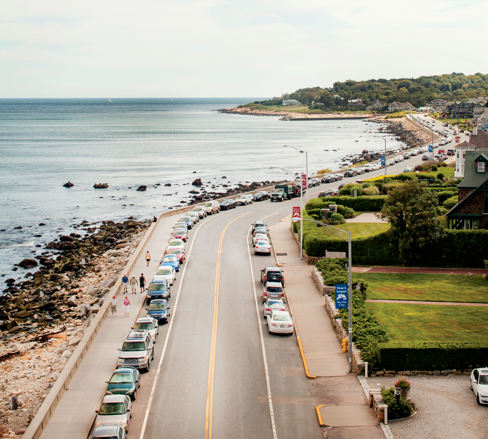 The View Looking South Along Ocean Road And Always Por Walkway By Sea