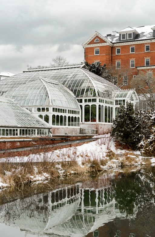 A view of the c.�1895 conservatory, which houses 3,000-plus species of plants from around the world.