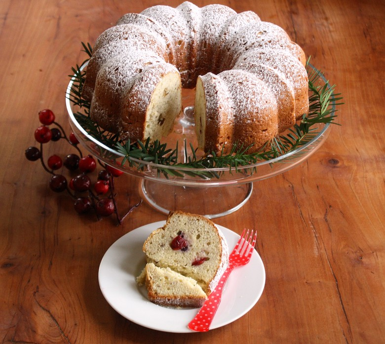 This tender cake is enriched with cream cheese.