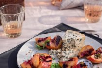 Grilled Peaches with Gorgonzola Recipe