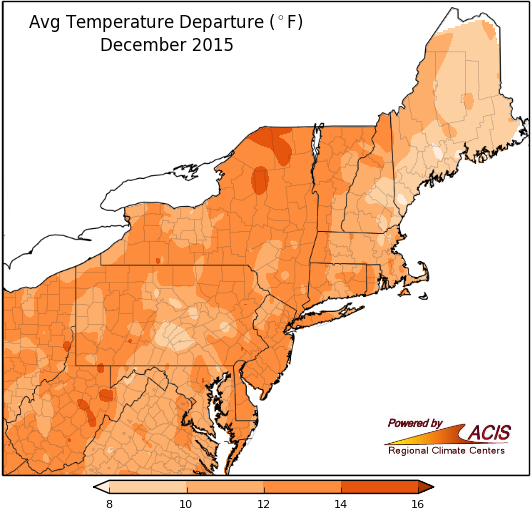 Temperature Anomalies At The Beginning Of Winter Were Historic And Continued Above Average All Season