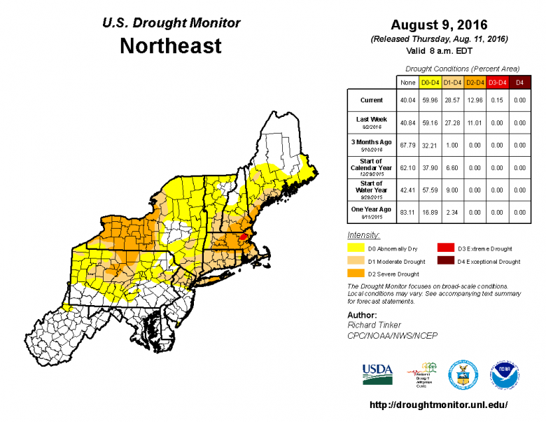 Us Drought Monitor Map For New England Showing Varied Impacts For Autumn