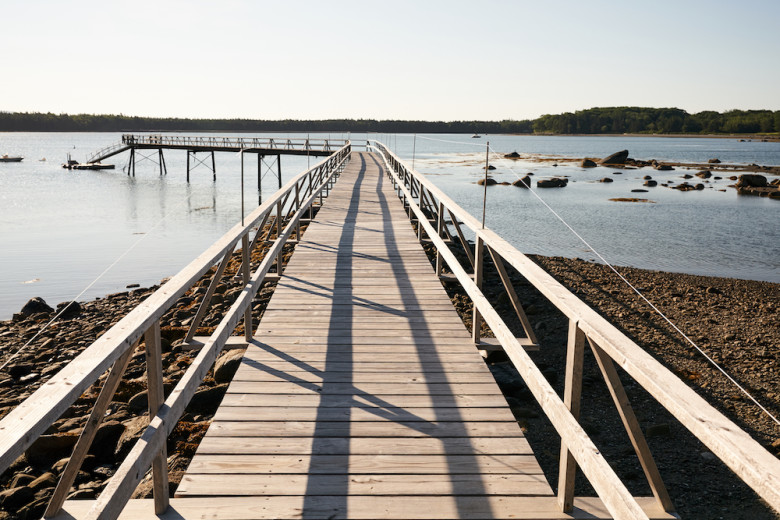 The Gallants had this dock built from the boathouse down to the ocean.