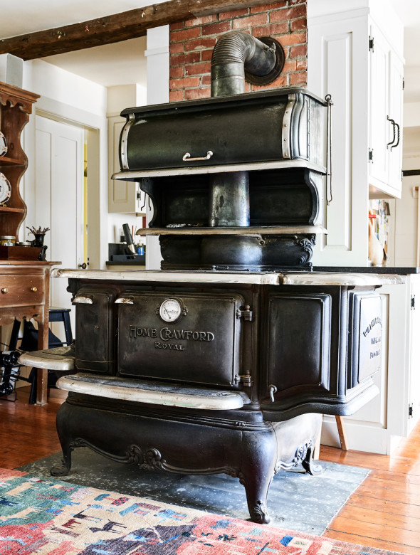 Mary Gallant says that while she knows it's not up to her to decide, she really hopes the new owners keep and continue to use the Whites' original wood cookstove.