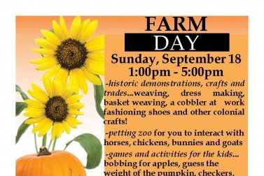 Farm Day presented by the Historical Society of Glastonbury