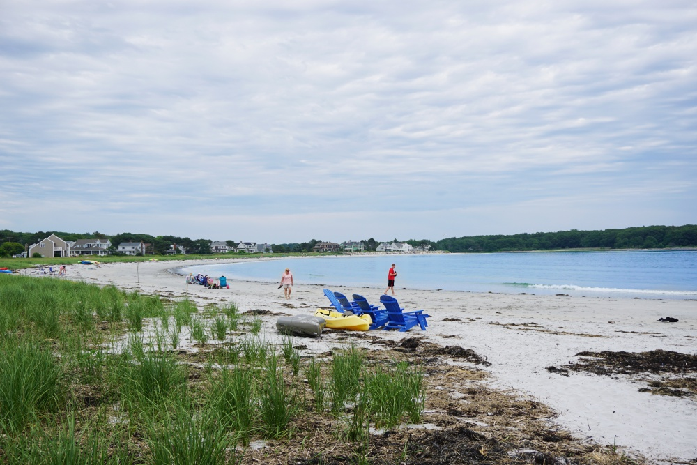 Goose Rocks Beach is located just