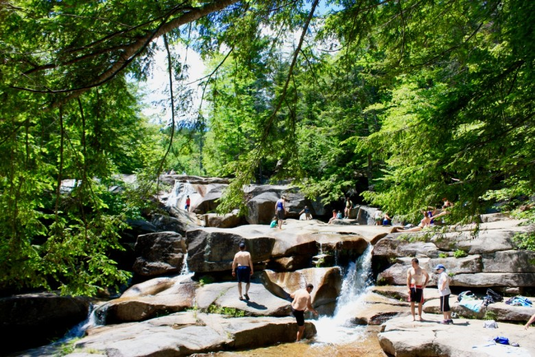 Diana's Baths are a popular spot for swimmers, sun bathers, and explorers.