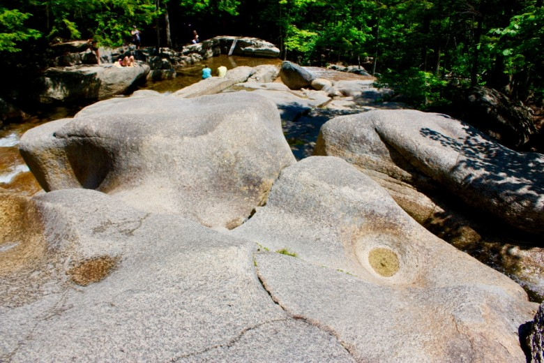 Smoothed over the years by rushing water, the rocks at Diana's Baths take on interesting shapes.