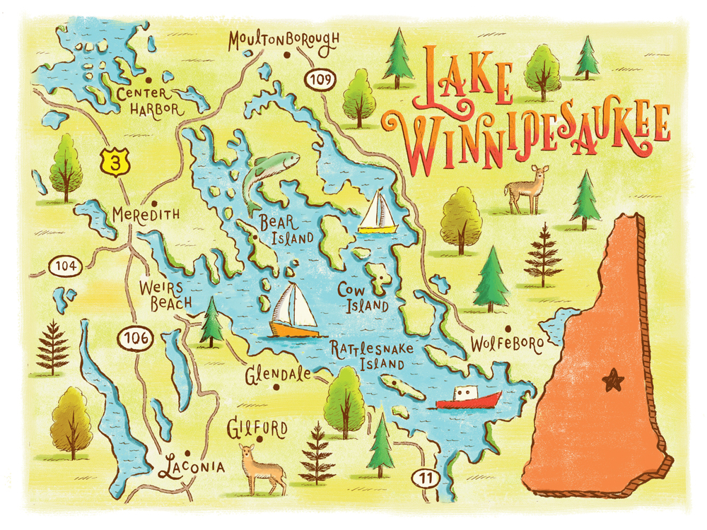 The Many Worlds of Lake Winnipesaukee New Hampshire