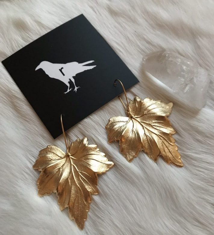 Maple Products 1 - Maple Leaf Earrings