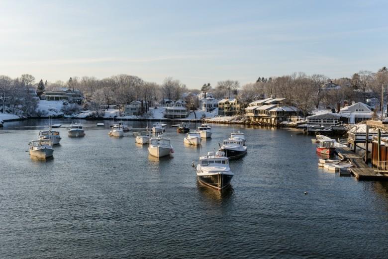 Ogunquit, Maine in Winter   Perkins Cove & Marginal Way