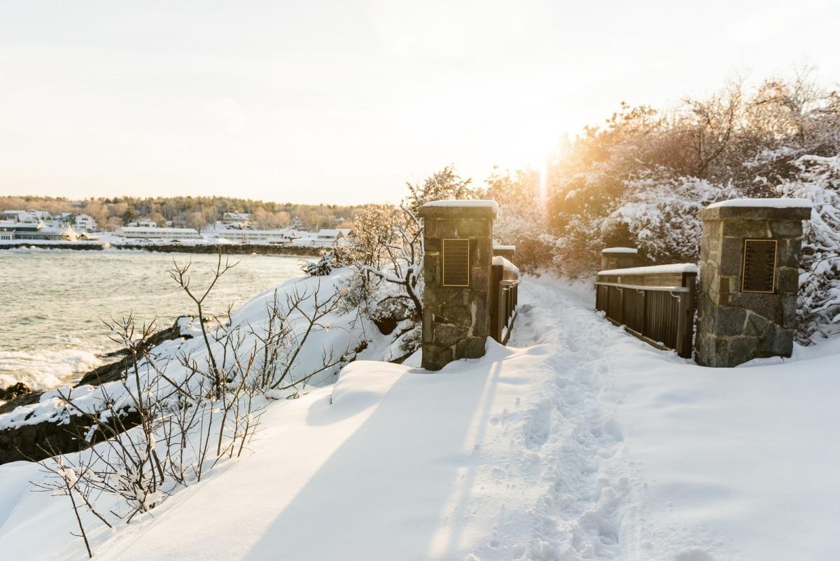Winter in Ogunquit, Maine   Perkins Cove & Marginal Way in