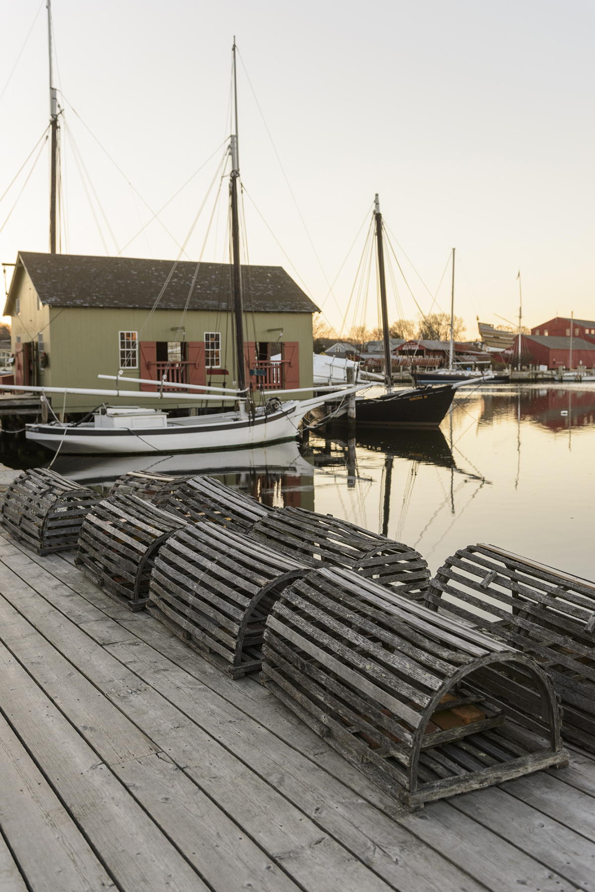 Vintage Wooden Lobster Pots And The Thomas Oyster House Was Originally Constructed In 1874 New