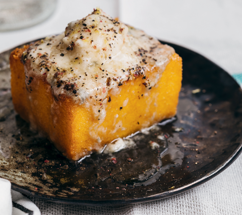 Polenta with Gorgonzola and Honey