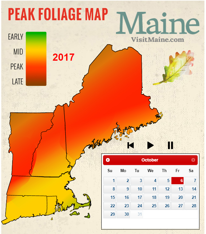 Fall foliage map 2017 where to see the autumn leaves for When will the leaves start changing 2017