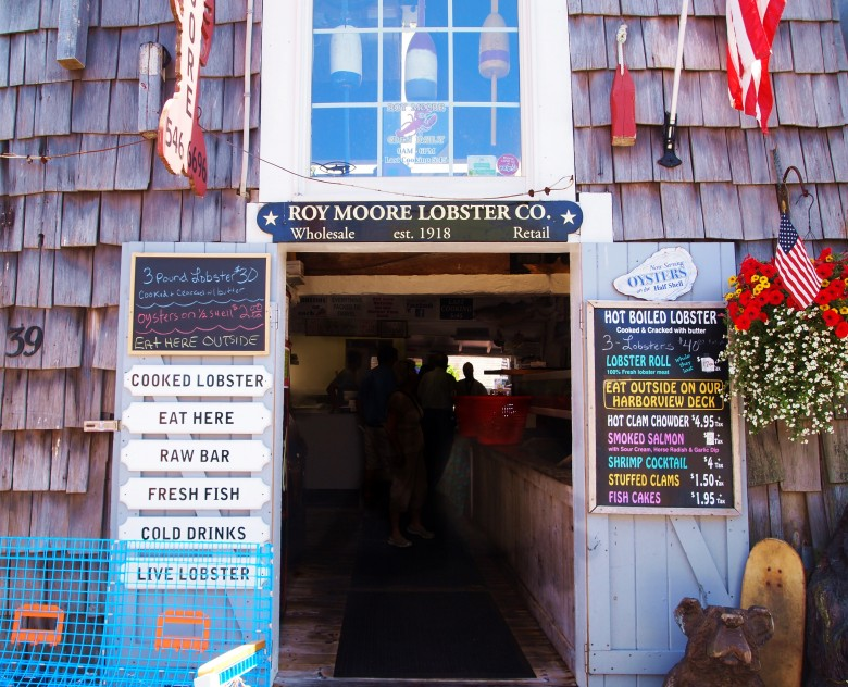 Roy Moore Lobster Co. on Bearskin Neck in Rockport, MA.