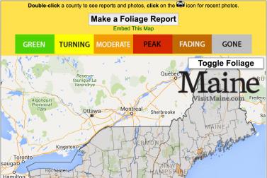 Live Fall Foliage Map