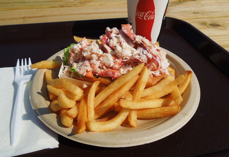 Sheer size is the defining characteristic of the lobster roll at Seafood Shanty.