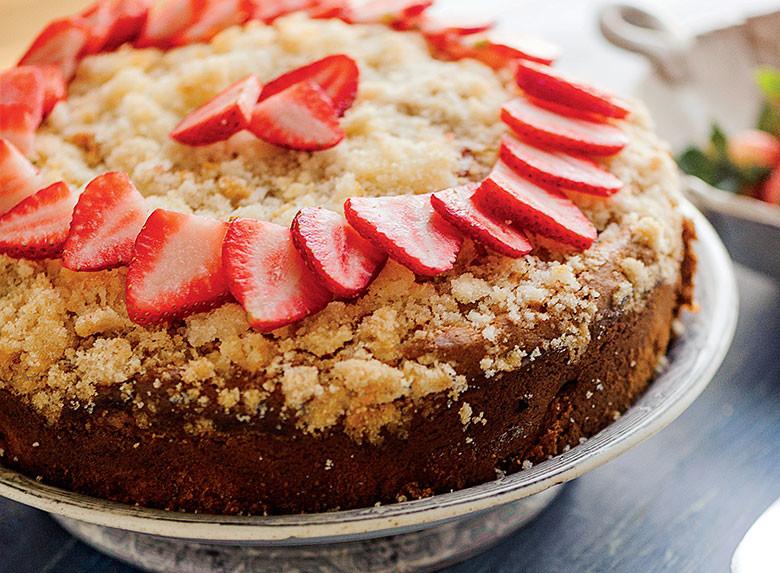 Yankee Magazine Strawberry Rhubarb Coffee Cake