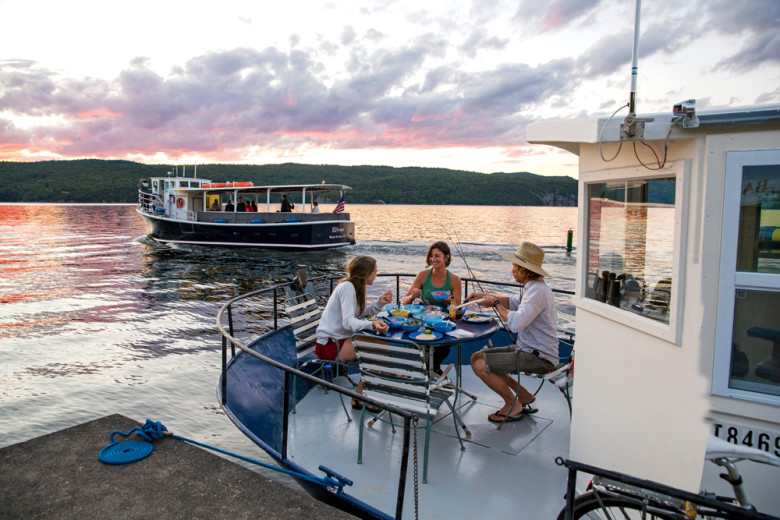 Slow Boat On A Big Lake Lake Champlain By Houseboat
