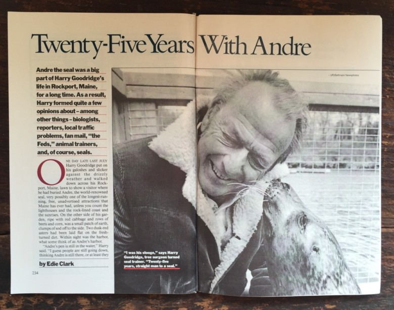 Thanks For Memories Andre >> 25 Years With Andre The Seal Yankee Magazine Classic
