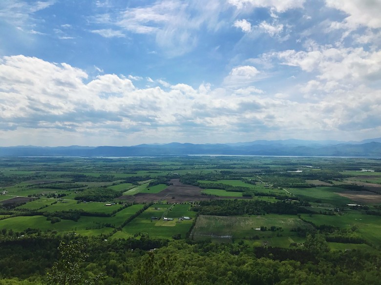 Gaze out at the patchwork of the Champlain Valley from the top of Snake Mountain