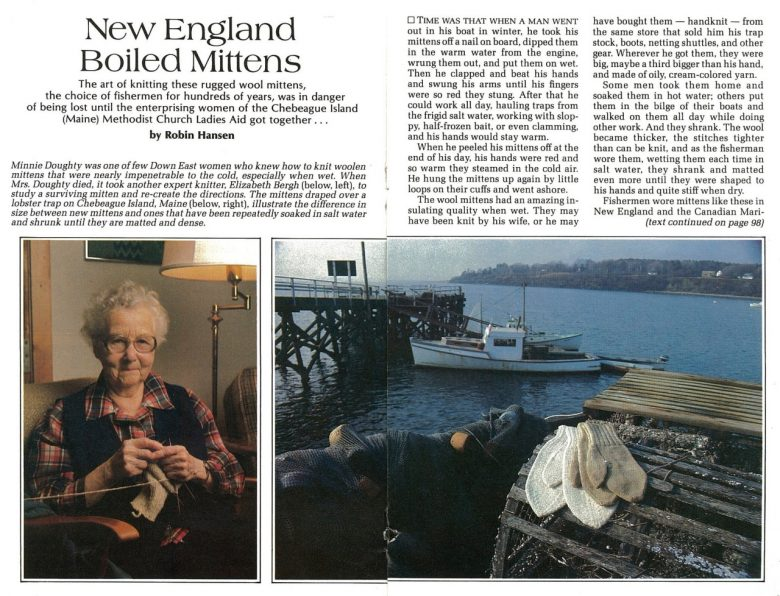 Boiled Wool Mittens Instructions | The Choice of New England Fishermen