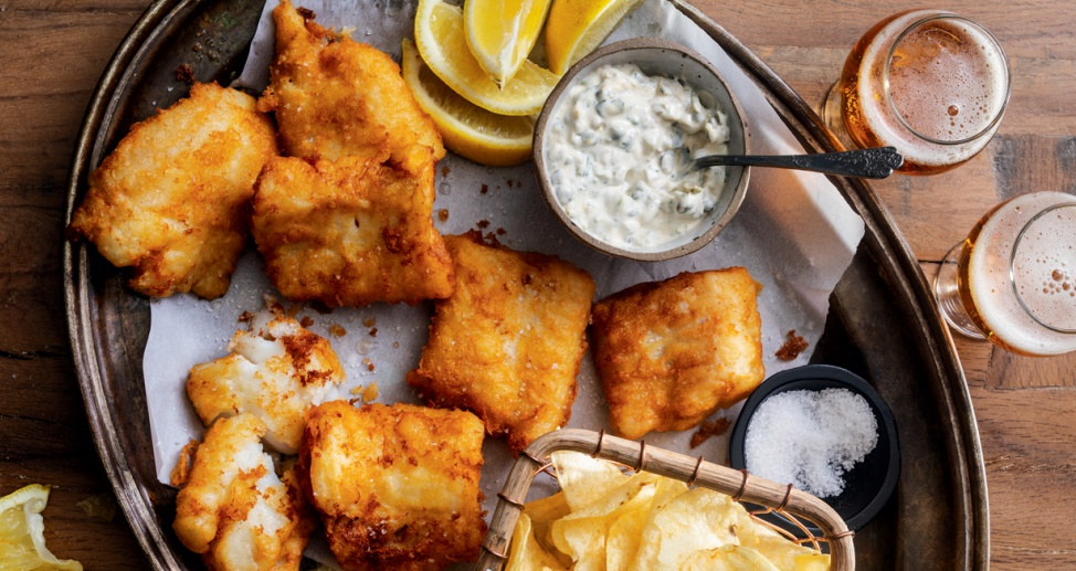 Dune Brothers Lemony Beer-Battered Fish