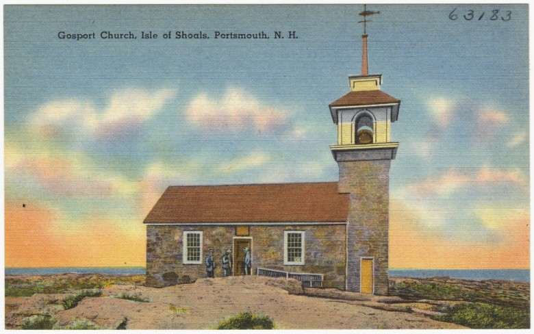 Gosport Chapel in a postcard from c. 1930–1945.