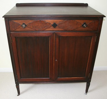 This Vintage Mahogany Armoire, Found In An Antique Shop, Was Less Expensive  And Of