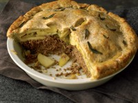 Pork & Apple Pie with Cheddar-Sage Crust