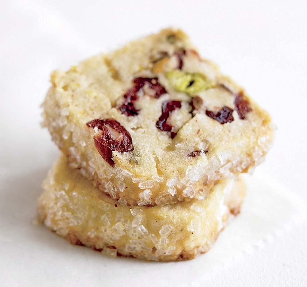 Pistachio Cranberry Icebox Cookies New England Today