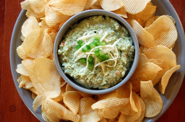 Sharp Cheddar, Olive, and Pepper Dip Recipe