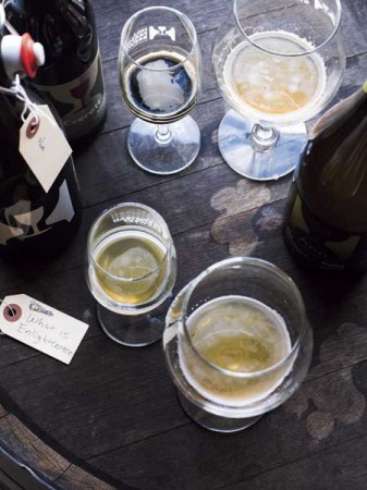 Sampling from the Hill Farmstead Brewery