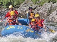 The Deerfield River's wild Dryway section runs south from Monroe, Massachusetts, to Fife Brook Dam in the town of Florida. The mellower Zoar Gap section runs from Fife Brook Dam east to Buckland -- 17 miles of unimpeded whitewater rafting.