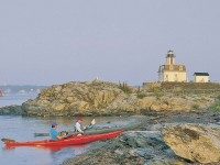 RHODE ISLAND: Kayaking Narragansett Bay is the best way to see the Ocean State's inner coastline. Here, paddlers rest near Rose Island Light on the bay's eastern shore. On the western side, rent a craft on picturesque Wickford Harbor for a few hours or a full day.