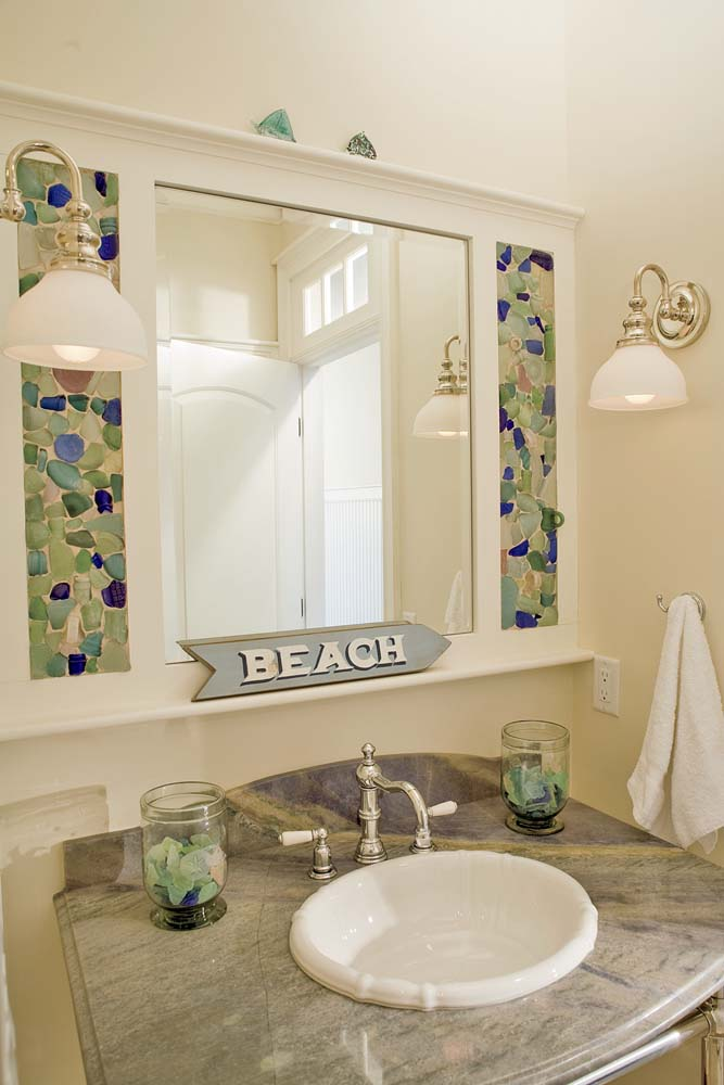 Sea glass mirror surround home projects for Glass and mirror craft