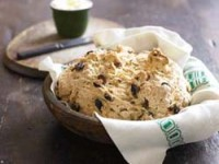 Studded with raisins and caraway seeds, soda bread needs just a bit of butter.