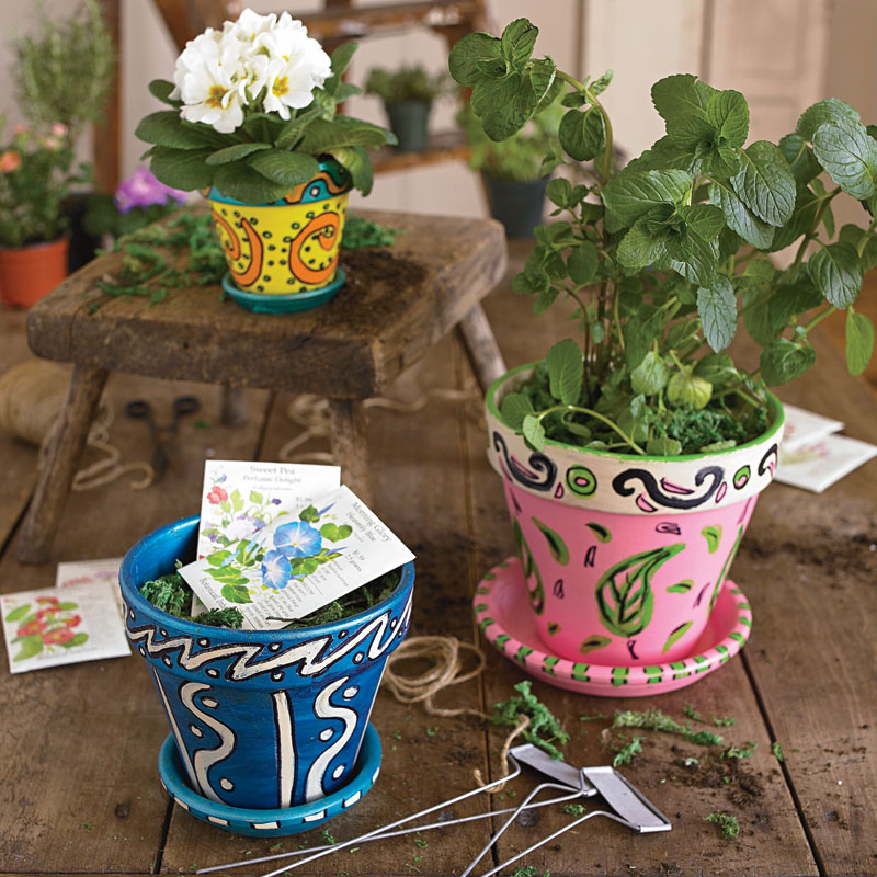 Make Painted Flower Pots Easy Crafts