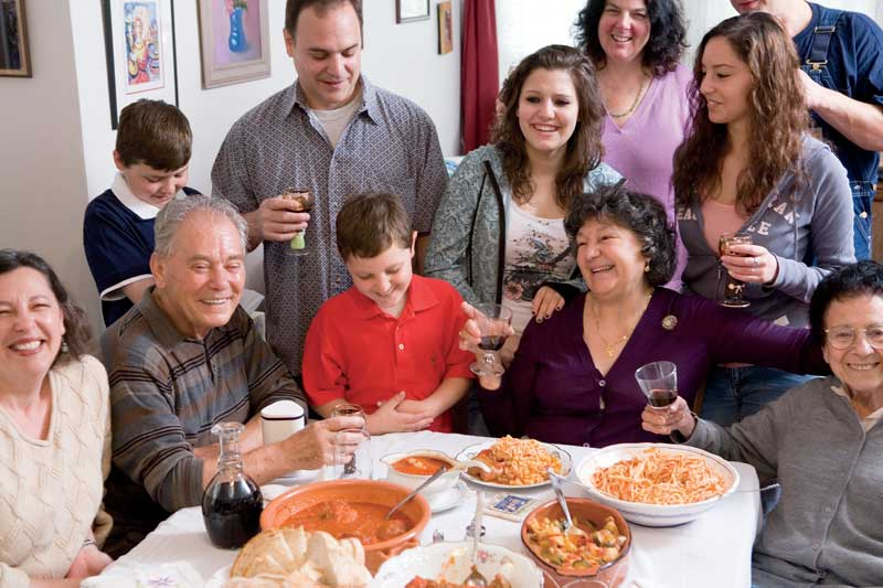 Italian food recipes teresa and ennio scenna gather with family to do what they do best enjoy one anothers company over a good meal forumfinder Images