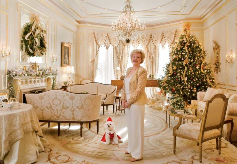 Barbara And Her Bichon Frise Are Ready To Welcome Holiday Guests Designer Michael Carter Preserved