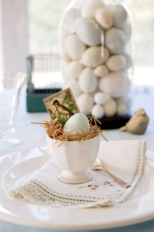 Easter Table Settings : easter decorations table setting - pezcame.com