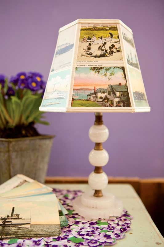 Make a postcard lampshade postcard lamp shade aloadofball Images