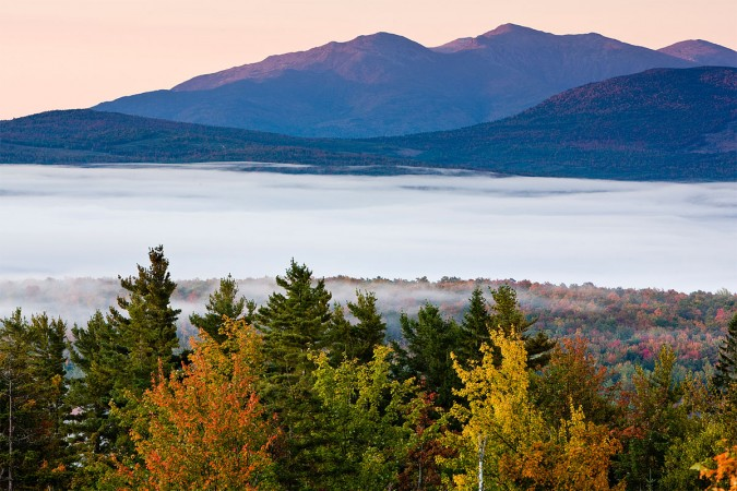 New Hampshire's Presidential Range as seen from Milan Hill State Park