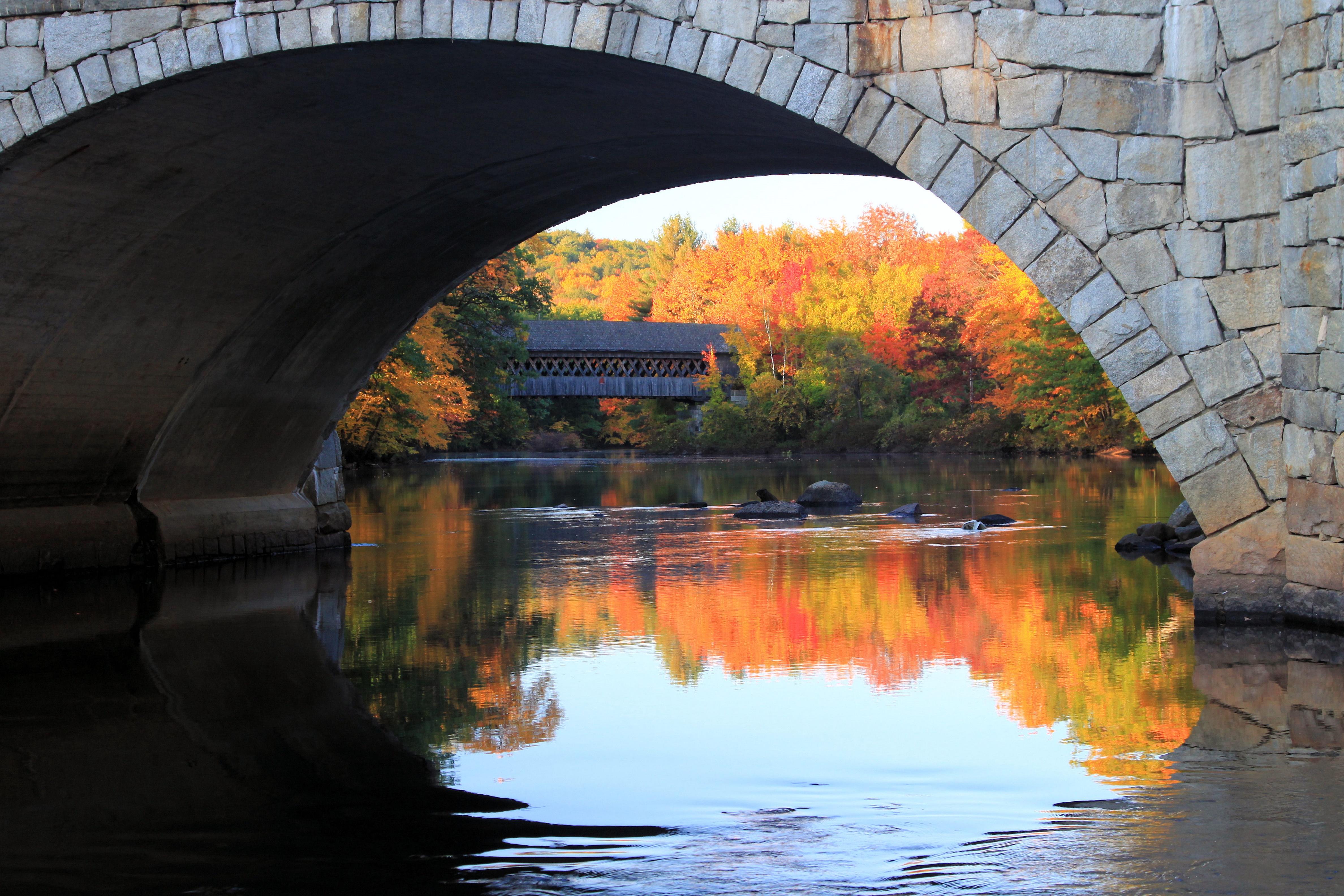 New England College Covered Bridge In Henniker Nh New