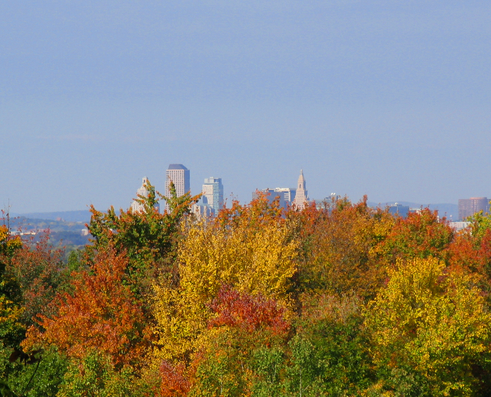 Hartford Skyline In The Fall (user submitted)