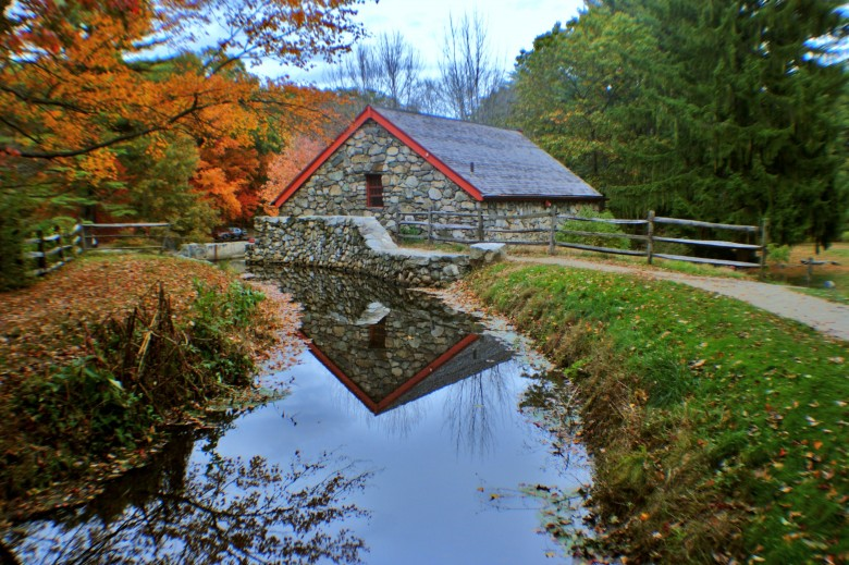 Above The Grist Mill at the Wayside Inn