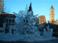 Copley Square Ice Sculpture (user submitted)